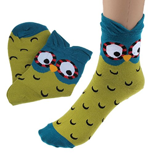 Fashion Unique Socks,Morecome Women Cartoon Lovely Cute Owl Cotton Warm Socks (Blue)