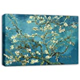 Wieco Art - Canvas Prints, Stretched and Framed, Huge Canvas Print Classic Van Gogh Reproductions, 30inch by 40inch Almond Blossom Modern Wall Art and Home Decoration, Ready to Hang P1XH6080-3