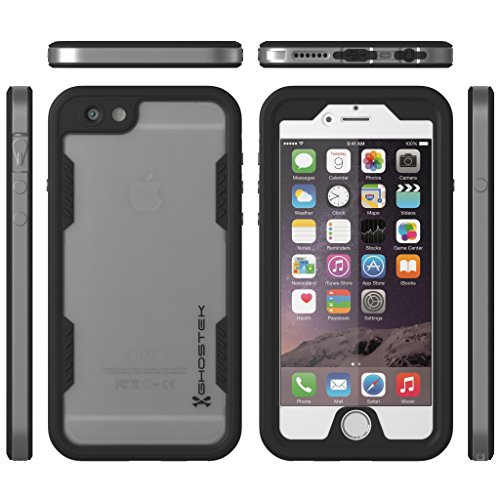 iPhone 6 Waterproof Case, Ghostek Atomic 2.0 Apple iPhone 6 Waterproof Case W/ Attached Screen Protector - Lifetime Warranty - Apple iPhone 6 Slim Fitted Waterproof Shock proof Dust proof Dirt proof Snow proof Super thin metal frame Case for iPhone 6 4.7 protective aluminum alloy bumper frame case for iphone 6 4 7 grey golden