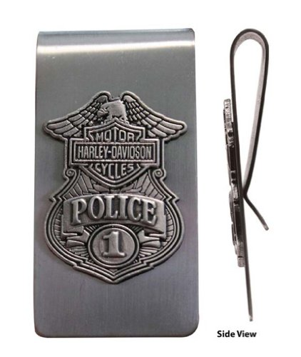 Harley-Davidson Mens Metal Police Money Clip. MC126306