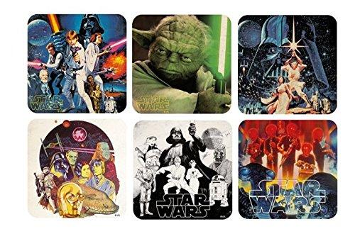 Star Wars - sottobicchieri Set di 6 - Movie Poster - episodio retrò 4-6