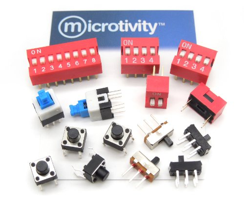 microtivity IM255 Assorted Switches (Pack of 15)