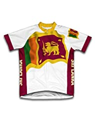 Sri Lanka Flag Short Sleeve Cycling Jersey for Women