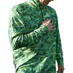 Aqua Design Mens Fishing 1 4 Zip Mock Turtleneck Long Sleeve UPF 50+ Shirt by Aquawear
