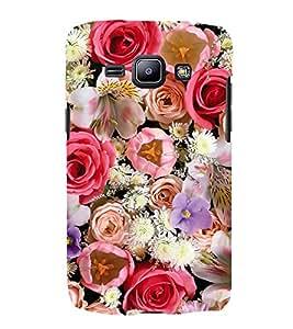 Multi Colour Flowers 3D Hard Polycarbonate Designer Back Case Cover for Samsung Galaxy J1 2016 :: Samsung Galaxy J1 2016 Duos :: Samsung Galaxy J1 2016 J120F :: Samsung Galaxy Express 3 J120A :: Samsung Galaxy J1 2016 J120H J120M J120M J120T