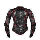 Herren Motorrad Schutz Protektoren Jacke Motorradjacke Protektor Hemd Brustschutz Fallschutz Schutzjacke Schutzbekleidung M-XXXL Schwarz/Rot