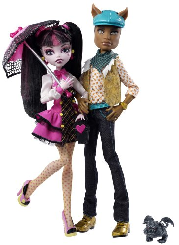 Monster High Draculaura and Clawd Wolf Dolls Gift Set