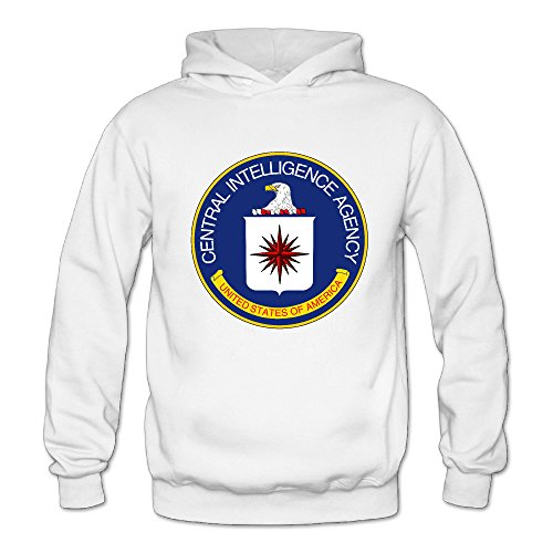 Central Intelligence Agency Women's Long Sleeve Hoodied Sweatshirt White US Size XXL (Dremel 202 compare prices)
