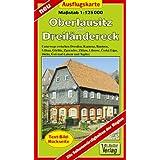 Oberlausitz und Dreiländereck 1 : 125 000 Ausflugskarte: Unterwegs zwischen Dresden, Kamenz, Bautzen, Löbau, Görlitz...