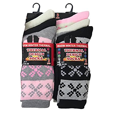 6 Pairs funky design socks. These socks have fairisle design all over the sock. The socks are ideal for everyday wear, wear to work or just to keep your feet warm. The socks are made from soft cotton fibres and offer more comfort and durability. The ...