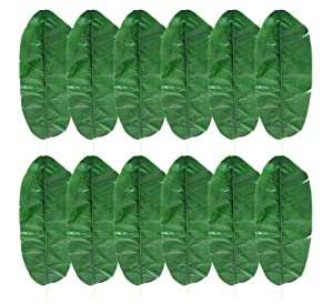 One dozen 12 pieces of 41 artificial for Artificial banana leaves decoration