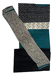 Raj Designer Women's Cotton Unstiched Dress Material (Pack of 4)