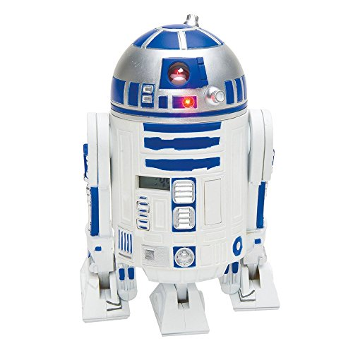 Star Wars, 21324, Sveglia in plastica con proiettore dell'ora e suoni, soggetto: R2-D2