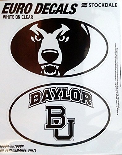 Baylor Bears 2-Pack EURO STYLE Vinyl Oval Home Auto Decals Sticker University of (Baylor Auto Decal compare prices)