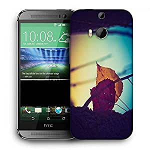 Snoogg Dry Leaves On Ground Printed Protective Phone Back Case Cover For HTC One M8