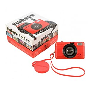 Lomography Fisheye Compact Camera Red Red