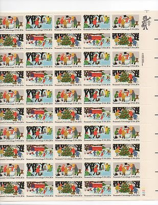 Season's Greetings USA Sheet of 50 x 20 Cent US Postage Stamps NEW Scot 2027-30