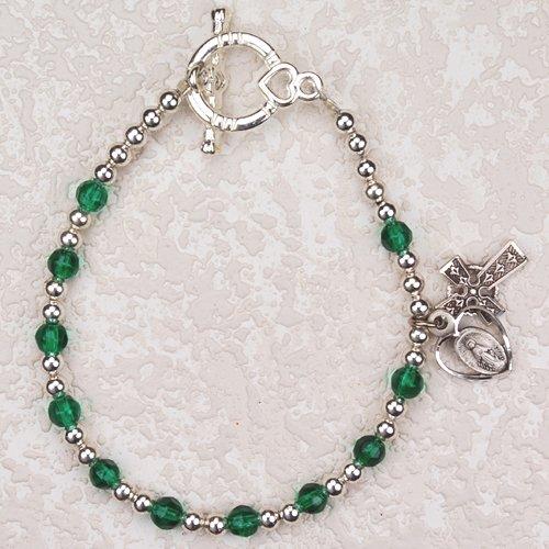 First Holy Communion Childrens Girls Rosary Bracelet 6 1/2