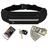 Running Belt, DREAMZE Workout Fanny Waist Pack Running Bag for Iphone 6s Plus/6 Plus/6s/6, Samsung Galaxy, Adjustable Band for Men and Women