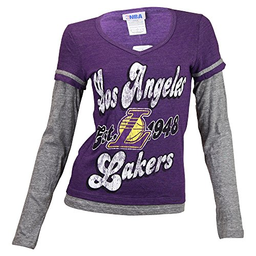 Women's NBA Team Vintage Look Long Sleeve T-Shirt (Los Angeles Lakers, XL) (Vintage Nba Shirts compare prices)