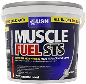 USN Muscle Fuel STS High Protein Meal Replacement Shake Powder, Vanilla - 5 kg