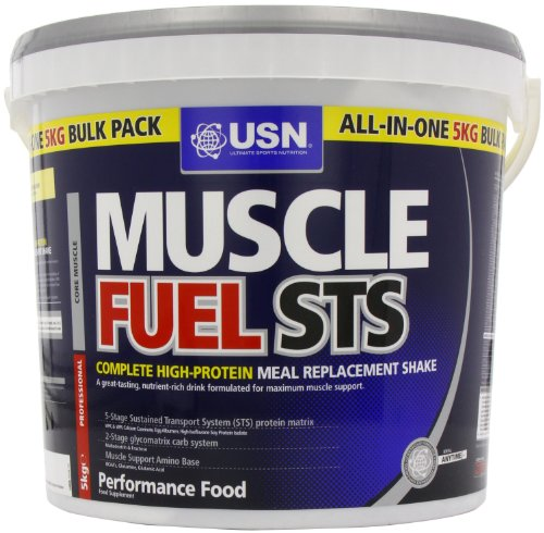 USN Muscle Fuel STS 5000 g Vanilla High Protein Meal Replacement Shake Powder