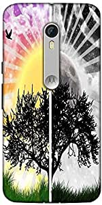 Snoogg Scenary Day & Night Designer Protective Back Case Cover For Motorola Moto X Style
