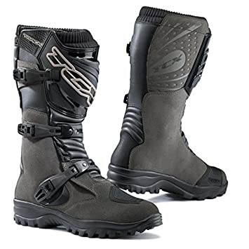 TCX - Bottes cross - TRACK EVO WATERPROOF - Couleur : gris anthracite - Pointure : 43