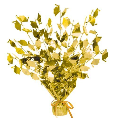 Graduate Cap Gleam 'N Burst Centerpiece (gold) Party Accessory  (1 count) (1/Pkg)