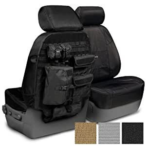 Coverking HD8702CSCT1 Ballistic Tactical Front Seat Cover Black
