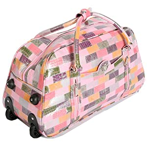 H52 Pink Large Travel Suitcase Holdall Hand Luggage Bag