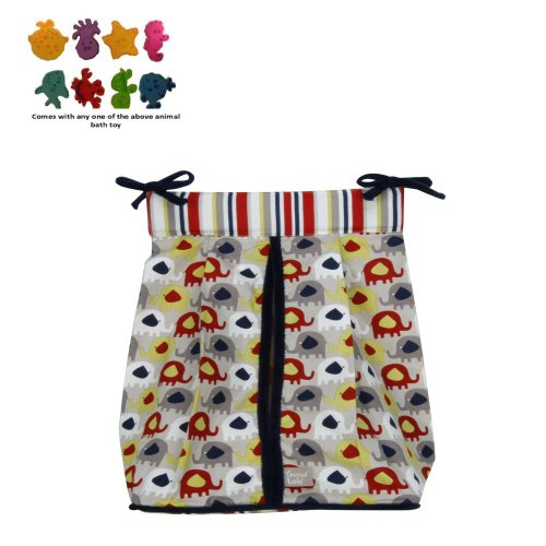Elephant Parade - Diaper Stacker & Purchasecorner Toy Bundle back-77765