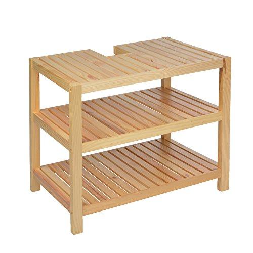 Waschtischunterschrank, Holz, Braun - 40x65x55cm