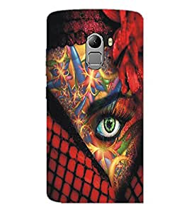 PrintDhaba Bright Eye D-5448 Back Case Cover for LENOVO K4 NOTE A7010 (Multi-Coloured)