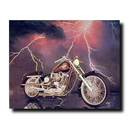 1971 XLH Harley Davidson Sportster Vintage Motorcycle Wall Decor Art Print Poster (16x20)