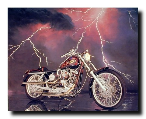 1971 XLH Harley Davidson Sportster Vintage Motorcycle Wall Decor Art Print Poster (16x20) 0