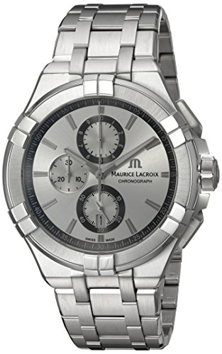 Maurice-Lacroix-Mens-Aikon-Quartz-Stainless-Steel-Casual-Watch-ColorSilver-Toned-Model-AI1018-SS002-130-1