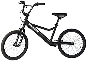 Strider Adult 20 Sport No-Pedal Balance Bike, Black