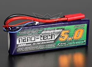 Turnigy nano-tech 5000mah 2S 35~70C Lipo Pack HobbyKing RC Battery