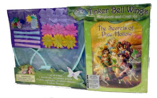 Disney Fairies Tinkber Bell Wings Storybook and Craft Kit