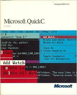 Microsoft Quick C Скачать - фото 8