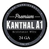 100ft Kanthal 24 Gauge A1 Resistance Wire Roll .51mm, 2.04 Ohms/ft