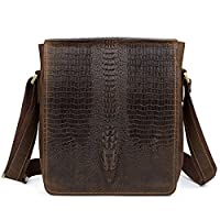 Kattee Leather Flap-Over Sling Business Messenger Bag by Kattee