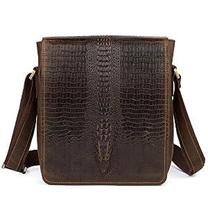 Kattee Leather Flap-Over Sling Business Messenger Bag by Kattee
