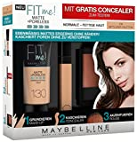 Maybelline New York Set Matt und Poreless Make-Up 130 buff, Master Heat Blush 20, 1er Pack (1 x 3 Stück), beige