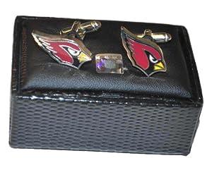 Arizona Cardinals Aminco, Inc. Maroon Silver Cut Out Logo Cufflinks