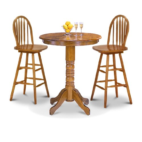 Man Cave Bar Table And Stools : Oak table restaurant pub