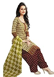 RK Fashion Womens Cotton Un-Stitched Salwar Suit Dupatta Material ( Rajguru-Ganpati-5021-Green-Free Size )