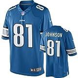 Calvin Johnson Detroit Lions NFL Blue Game Jersey
