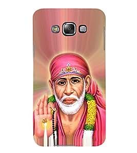 OM Shri Sai Jeevadhaaraya 3D Hard Polycarbonate Designer Back Case Cover for Samsung Galaxy E7 :: Samsung Galaxy E7 E700F (2015)